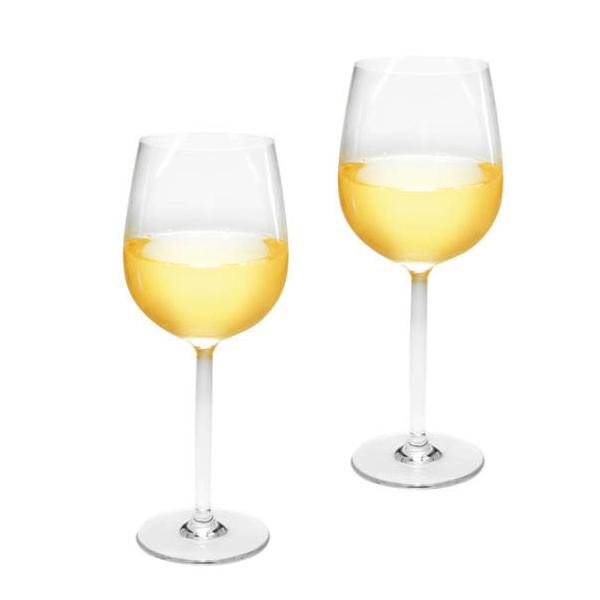 Conjunto Copos de Vinho 37Cl em Acrílico - Par
